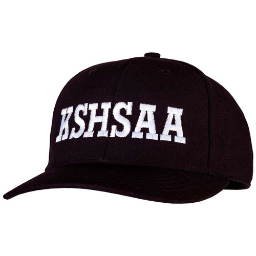 Kansas KSHSAA Black Flex-fit Umpire Cap