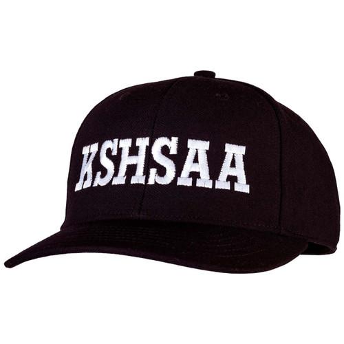 Kansas KSHSAA Fitted Black Umpire Cap