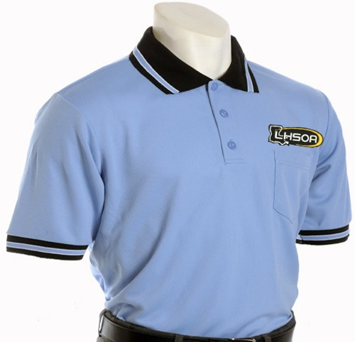 Honig's Louisiana LHSOA Logo Embroidered Carolina Blue Umpire Shirt