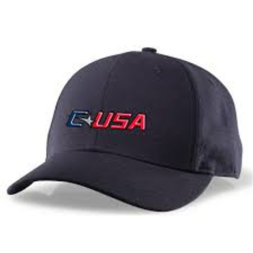 Conference USA Navy Fitted Wool 6-stitch Umpire Cap