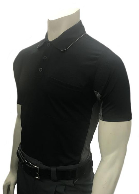 Smitty Official's Apparel Body Flex® MLB Style Short Sleeve Black Umpire Shirt