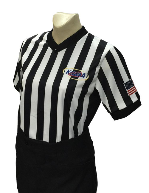 Smitty Official's Apparel Kentucky KHSAA Dye Sublimated Women's Side Panel Body Flex® Referee Shirt