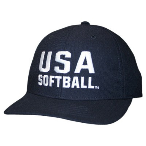 USA Softball Flex-fit 2 inch 4-stitch Umpire Cap