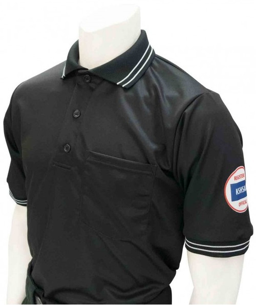 Smitty Official's Apparel Kansas KSHSAA Dye Sublimated Black Umpire Shirt