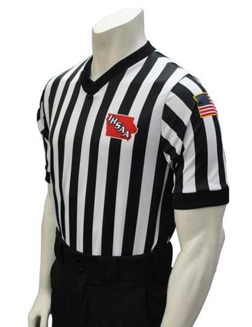 Iowa IHSAA Body Flex® Side Panel Basketball Referee Shirt