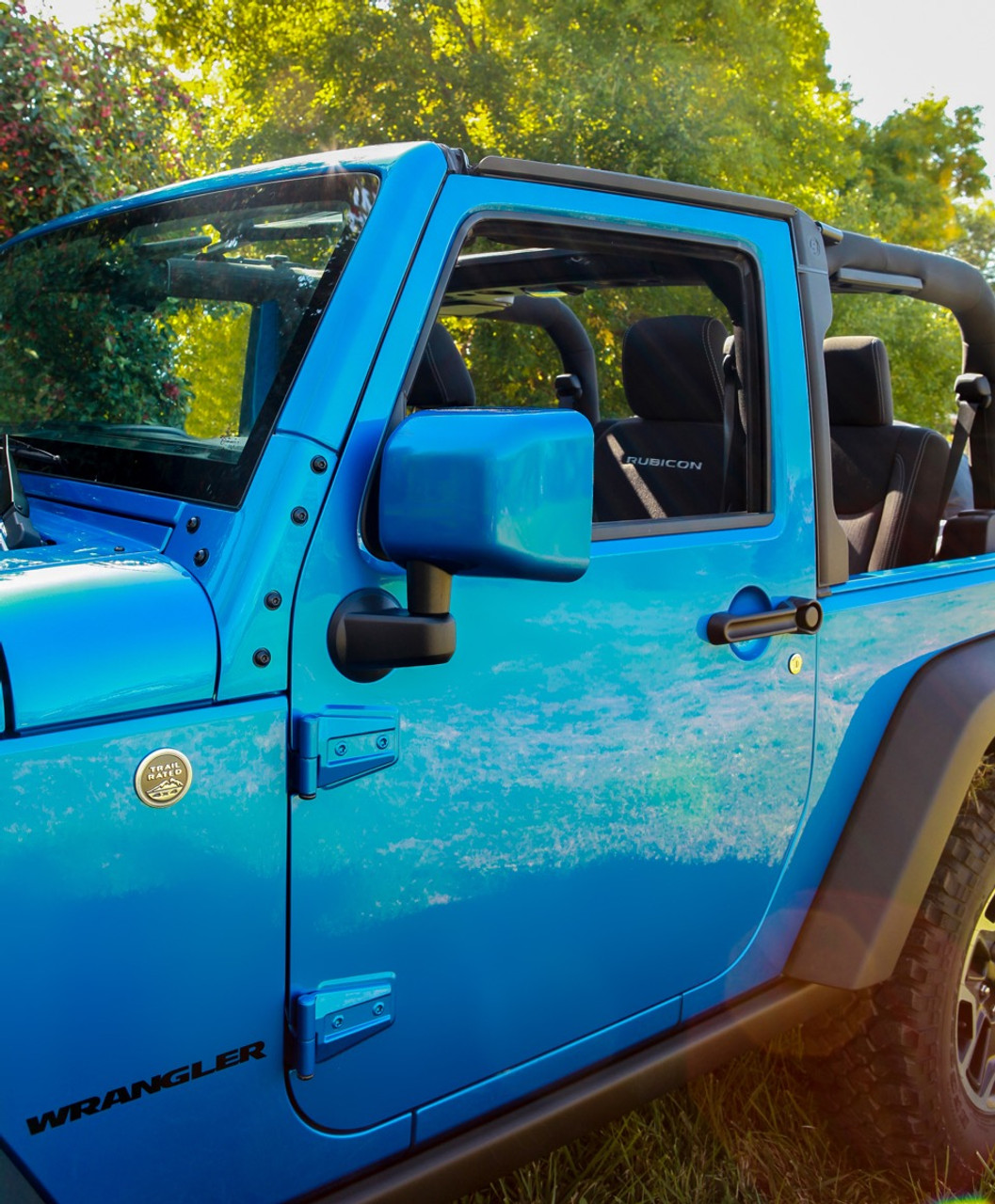 1 Pair Painted-to-Match Boomerang 2007-2018 Jeep Wrangler JK - Driver /& Passenger Side Mirrors ColorPro Mirror Caps - Red Rock Crystal