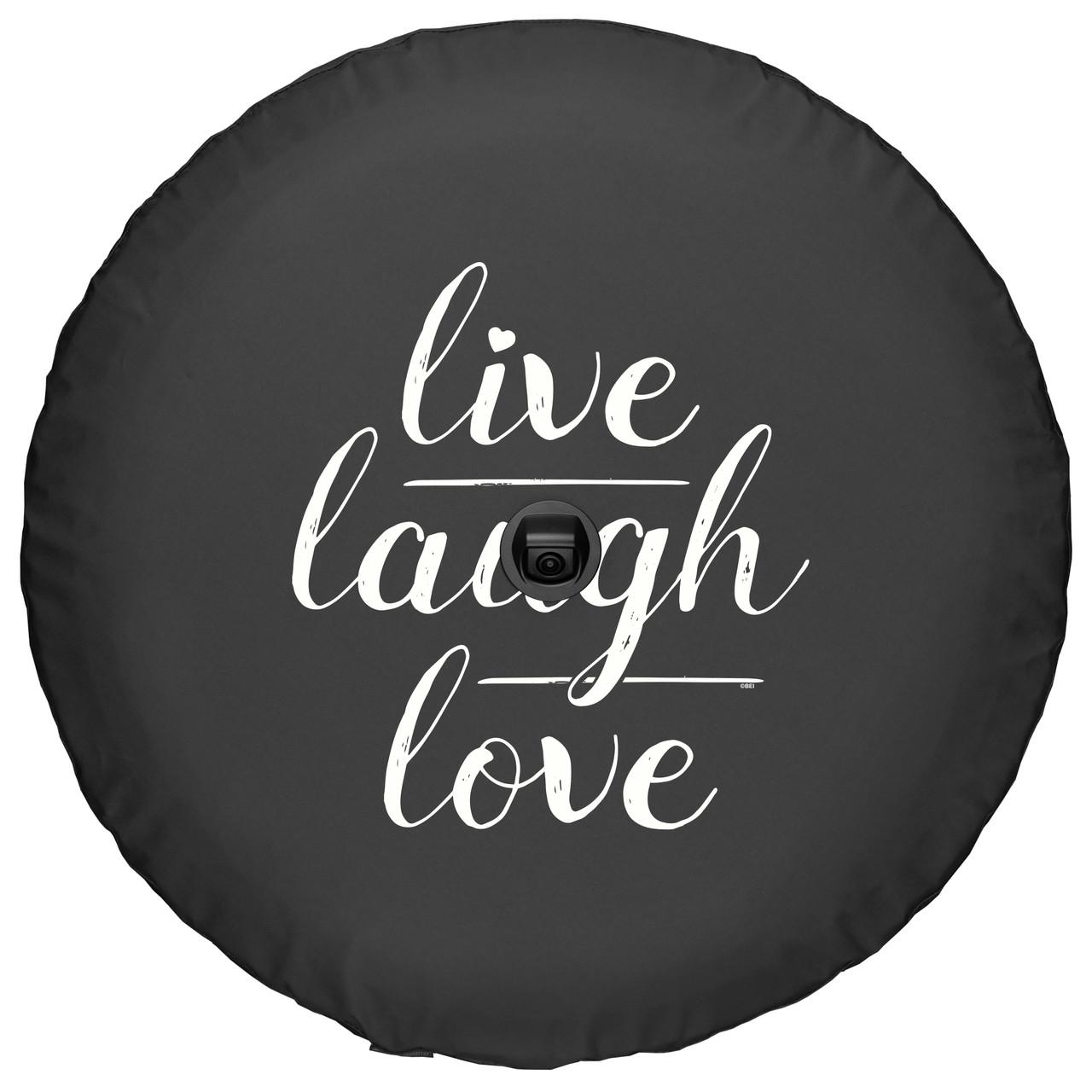 Jeep Wrangler JL - Soft Tire Cover - Live Love Laugh