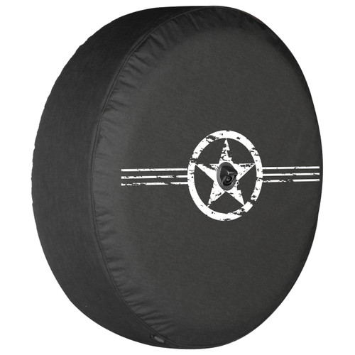 Pavement Is Optional Logo Jeep Wrangler Black Denim Tire Cover with Fun Is Standard