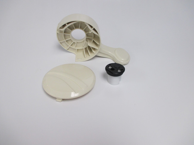 Sealand / Dometic 210 Pedal Cover & Spring Cartridge bone # 311122