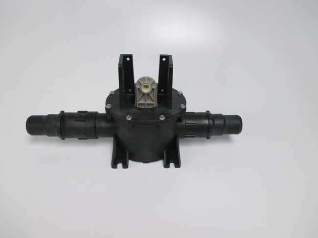 Complete S-Series pump without the motor.  Part # 310249 Will work with all standard Vacuflush  systems that have a black bodied pump. 4 duck bills installed.