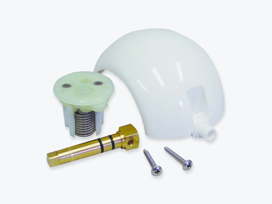 Sealand 385318162 Ball & shaft kit with spring cartridge. New brass shaft . Fits all Vacuflush and Traveler toilets with a foot flush pedal except the Eco Vac Models and 5000 Series toilets.