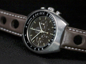 "Rare Omega Vintage Watch - Speedmaster Mark II Chocolate ""Tropical"" Dial 145.014 for sale online www.Legendoftime.com and in store Chicago Watch Center"