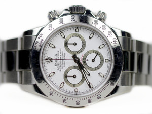 Rolex Watch - Cosmograph Daytona Steel White Dial 116520 - used for sale online www.Legendoftime.com and in store - Chicago Watch Center