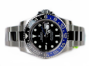 For sale in stock unworn Rolex Watch Sale GMT Master II Date 116710blnr, available at Legend of Time, Chicago Watch Center or online at www.Legendoftime.com