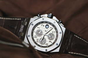 For sale Audemars Piguet New Style Safari Royal Oak Offshore Chronograph used mens Swiss luxury watch