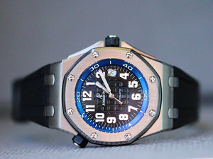 For sale Audemars Piguet Diver Scuba Blue Boutique Limited Edition Used 15701ST.OO.D002CA.02 available instock Legend of Time - Chicago Watch Center