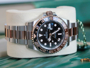 Rolex GMT-Master II Rootbeer Auto Steel Gold Men Bracelet Watch Date 126711CHNR