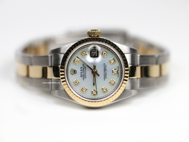 Rolex Watch  Datejust Lady  Steel and Gold - Fluted Bezel - Oyster