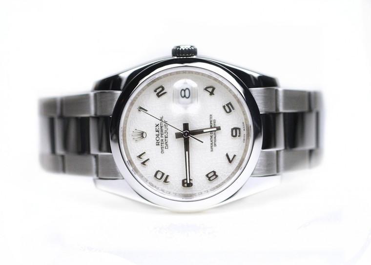 Rolex Watch- Datejust 36mm Steel Domed Bezel Oyster Bracelet