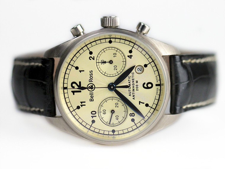 Pre-Owned - Bell & Ross Watch - Vintage 126 White Gold - www.Legendoftime.com Chicago Watch Center