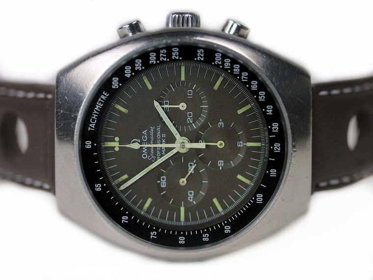"""Rare Omega Vintage Watch - Speedmaster Mark II Chocolate """"Tropical"""" Dial 145.014 for sale online www.Legendoftime.com and in store Chicago Watch Center"""