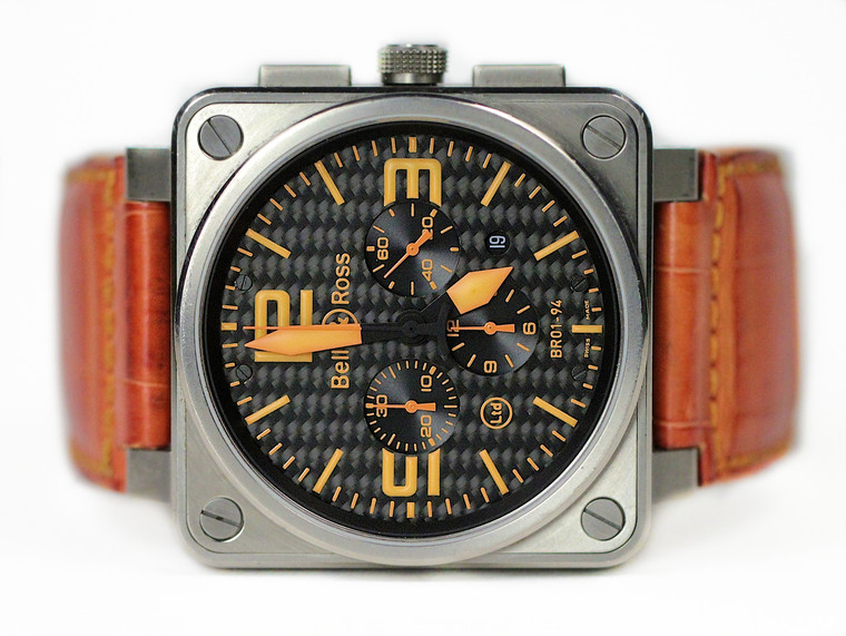 Bell & Ross Watch Orange Crush Special Edition Titanium BR01-94-TO - used for sale online www.Legendoftime.com and in store Chicago Watch Center