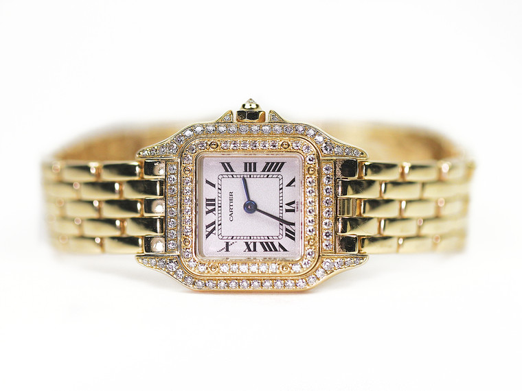Cartier Watch - Panther Yellow Gold Diamonds WF3072B9 - used for sale online www.Legendoftime.com and in store Chicago Watch Center