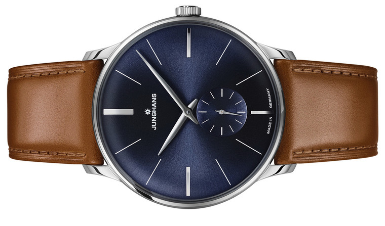 Available for sale new Junghans Watch Meister Hand-Winding Sunray Blue Dial 027/3504.00, online www.legendoftime.com and in store Chicago Watch Center