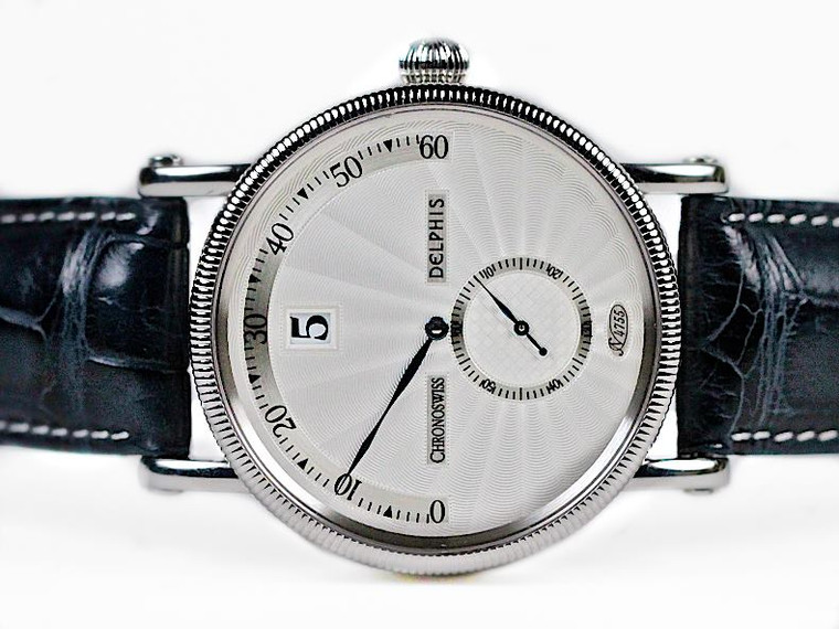 Used Steel Chronoswiss Watch Delphis Jump Hour CH1423 for sale Legend of Time Chicago Watch Center
