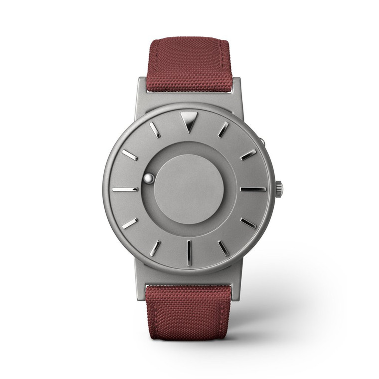 For sale online and in store in Chicago EONE Watch Bradley Canvas Crimson Titanium Quartz (BR-C-RED)