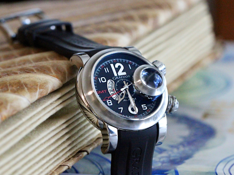 Graham Watch - Swordfish Grillo GMT Alarm Pre-Owned for sale Legend of Time Chicago Watch Center