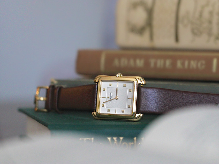 For Sale : Vacheron Constantin Toledo Square 18K Yellow Gold Gilt Dial 39044 Manual Wind, Vintage watch all original with original buckle, on a new strap.  Available from Legendoftime.com and in store Chicago Watch Center.