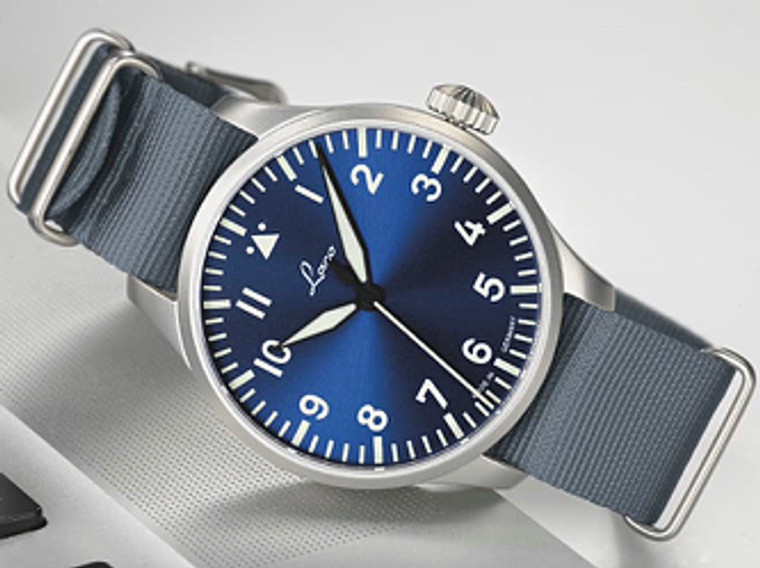 For sale online and in store , Legend of Time presents : Laco 1925 Mens Watch PILOT BASIC AUGSBURG BLAUE STUNDE 42 mm
