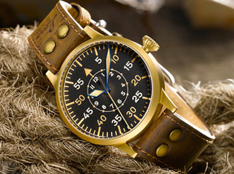 For sale online and in our Chicago store :  Laco 1926 Pilot Watch Original - MODEL FRIEDRICHSHAFEN BRONZE (862086)