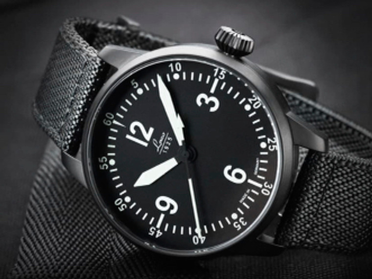 For Sale available from an Authorized Dealer in Laco 1925 Watches in Chicago USA, New Laco 1925 PILOT WATCH SPECIAL MODEL BELL X-1 42 MM AUTOMATIC (861907)