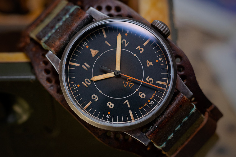 For sale - LACO The Laco Auxiliary Observeror RAD-AUX Limited Edition 143 pieces made - available in store Legend of Time Chicago Watch Center