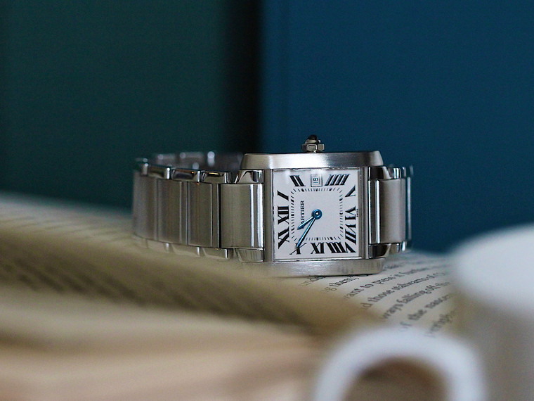 For Sale -  Cartier Tank Francaise Stainless Steel Medium Quartz with Date W51011Q3 Box Used - Available at Legend of Time Chicago Watch Center