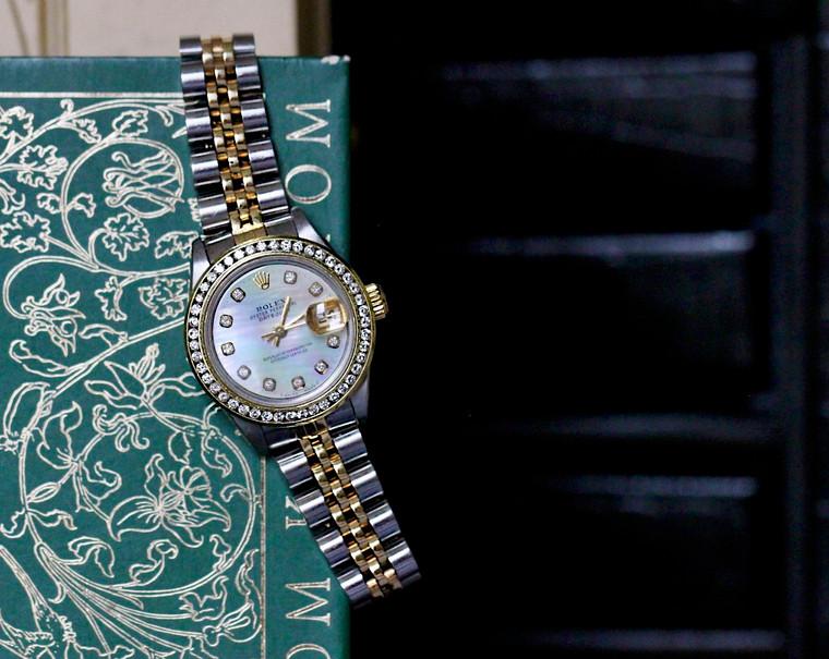 Rolex Watch Ladies Datejust 69173 Jubilee Bracelet Steel & Yellow Gold Mother of Pearl Dial