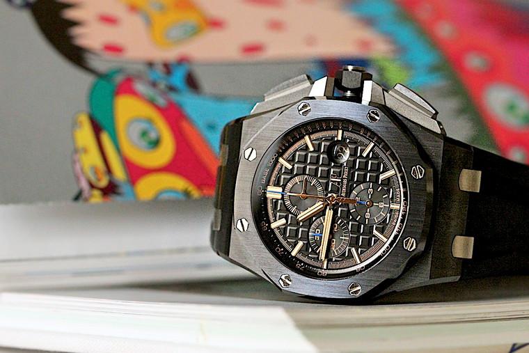 For sale Audemars Piguet Royal Oak Offshore Chronograph Watch Ceramic 44mm Black available at Legend of Time Chicago
