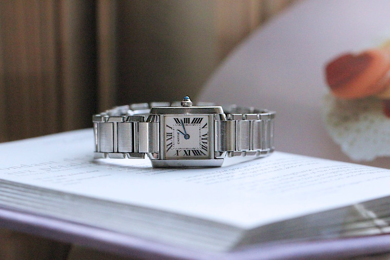 For sale pre-owned Cartier Tank Francaise Small Steel Used Watch.  Great condition, complete with original box and papers.