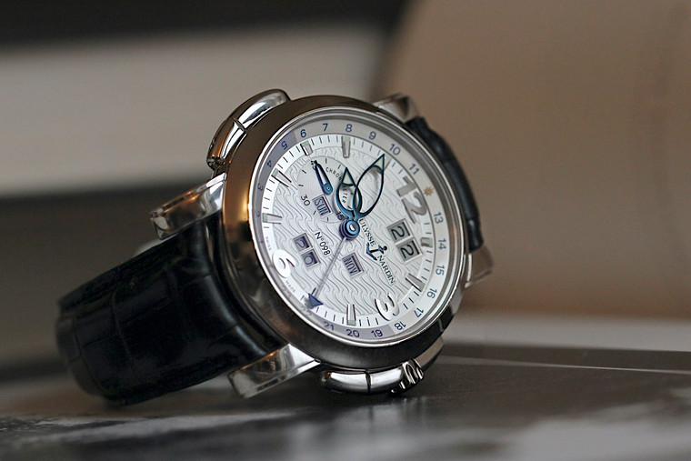 For sale used Ulysse Nardin Perpetual Calendar Platinum 329-60 complete with original box and papers.