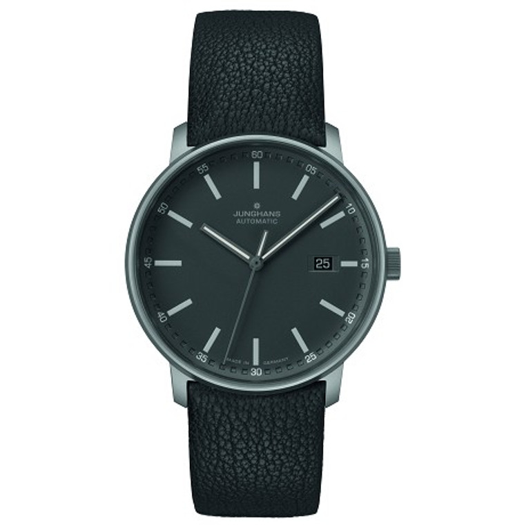 For sale FORM A TITAN Junghans Watch 027/2001.00 Titanium Automatic 40mm Date See-through back 10 bar, authorized dealer, free delivery in USA, manufacturer warranty.