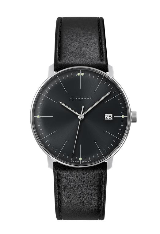 For sale, JUNGHANS MAX BILL QUARTZ 041/4465.04 Black Dial, Purist Dial, Made in Germany.