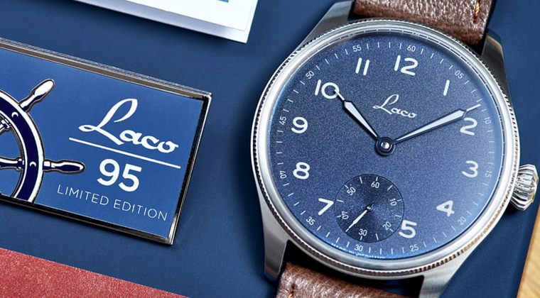 Laco 1925 German 862123 Navy Watches Edition 95 Hand Winding Limited Edition - for sale from an Authorized watch dealer.