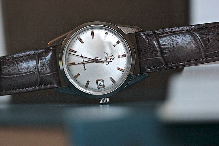 For sale - Vintage Omega Seamaster Mens Watch Steel Silver Dial Gold Hour Markers