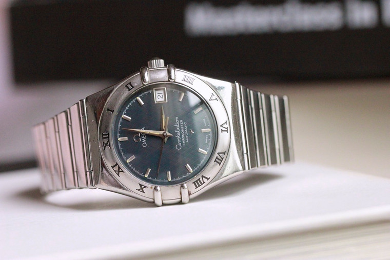 For sale - pre-owned OMEGA Constellation Automatic Anthracite Dial Stainless Steel Ref 368.1201 Circa 1999