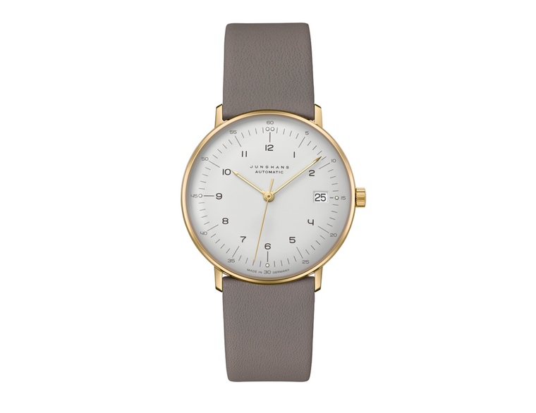 A must-have for watch aficionados: The max bill is now available in the original size of the first watches from 1961, with a diameter of 34mm and self-winding movement, date and sapphire crystal. Max Bill's classic minimalist design is without compromise and remains completely unchanged  For sale, available now - JUNGHANS MAX BILL KLEIN AUTOMATIC 27/7108.02 LIMITED EDITION - in store in Chicago and online.  Made in Germany. 2021 Novelty Junghans watch.