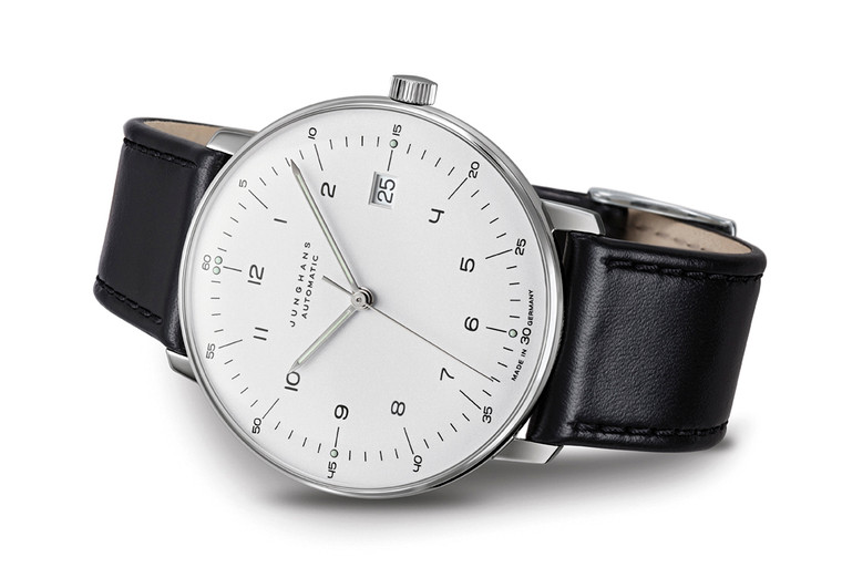 Junghans Watch Max Bill Sapphire Crystal Automatic Silver Dial Numerals Date 027/4700.02