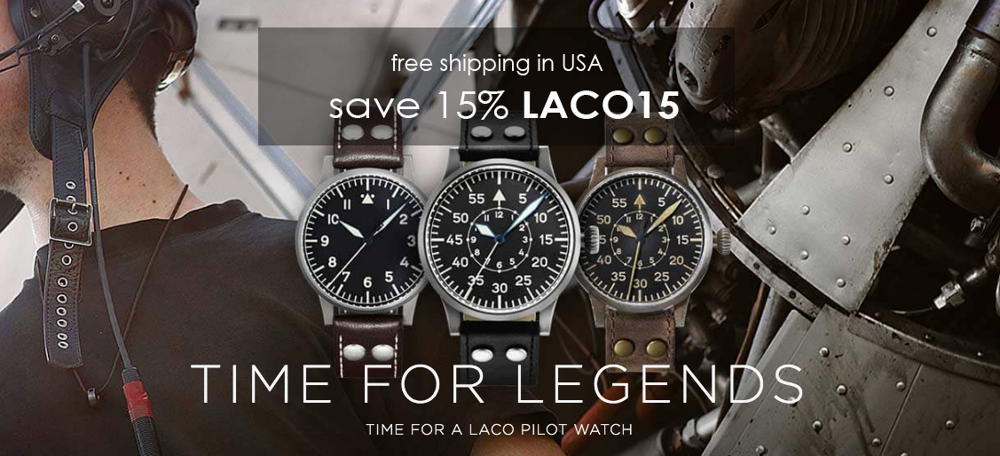 laco watch sale online 15% off, authorized dealer Legend of Time Chicago