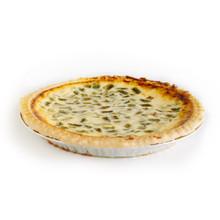 Green Chile Cheddar Quiche